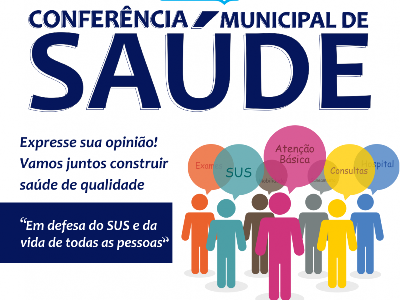 Foto de capa da notícia: Conferência Municipal de Saúde acontece no dia 12 de julho, de forma online