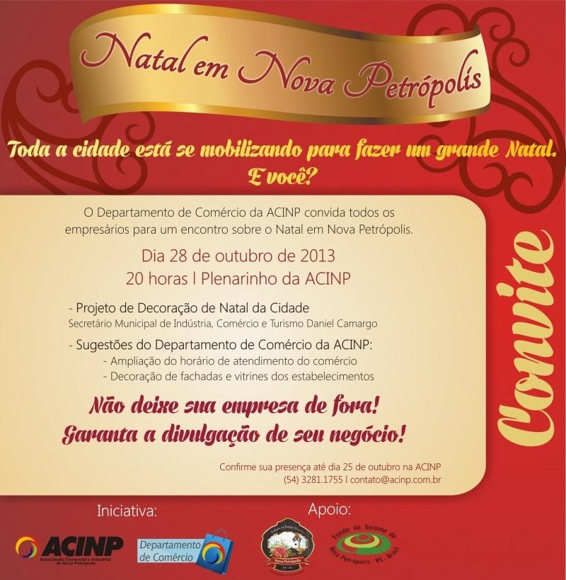Foto de capa da notícia: Natal de Nova Petrópolis será tema de encontro na ACINP