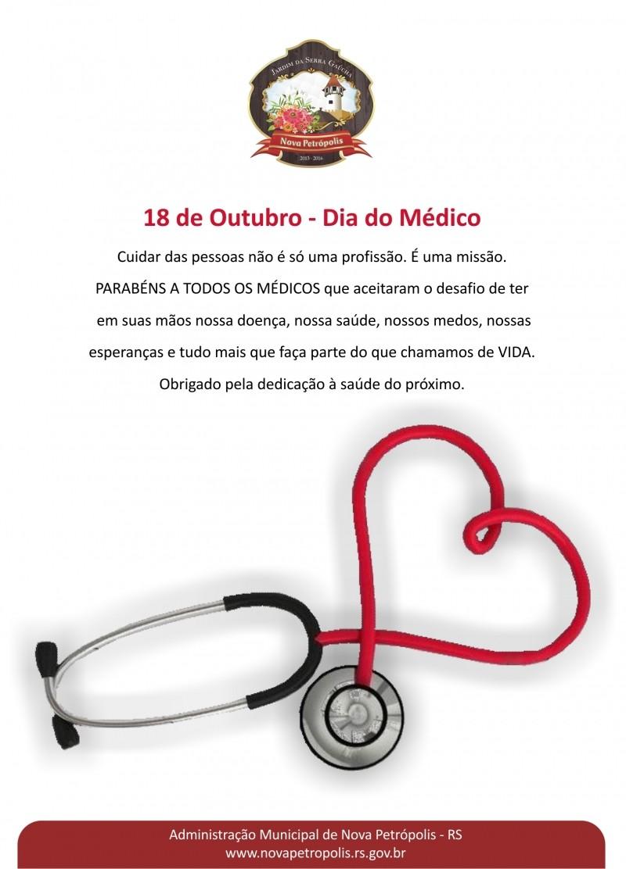 Foto de capa da notícia: 18 de Outubro - Dia do Médico