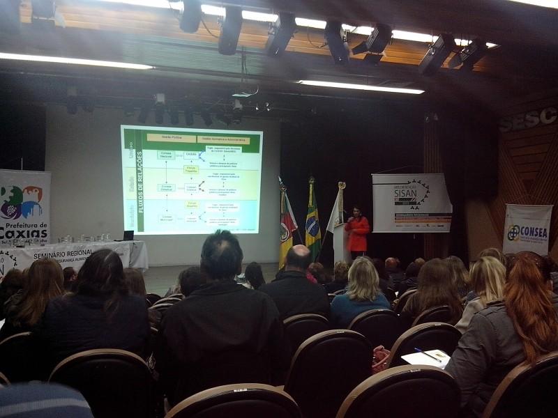 Foto de capa da notícia: Nova Petrópolis participa do Seminário Regional do SISAN