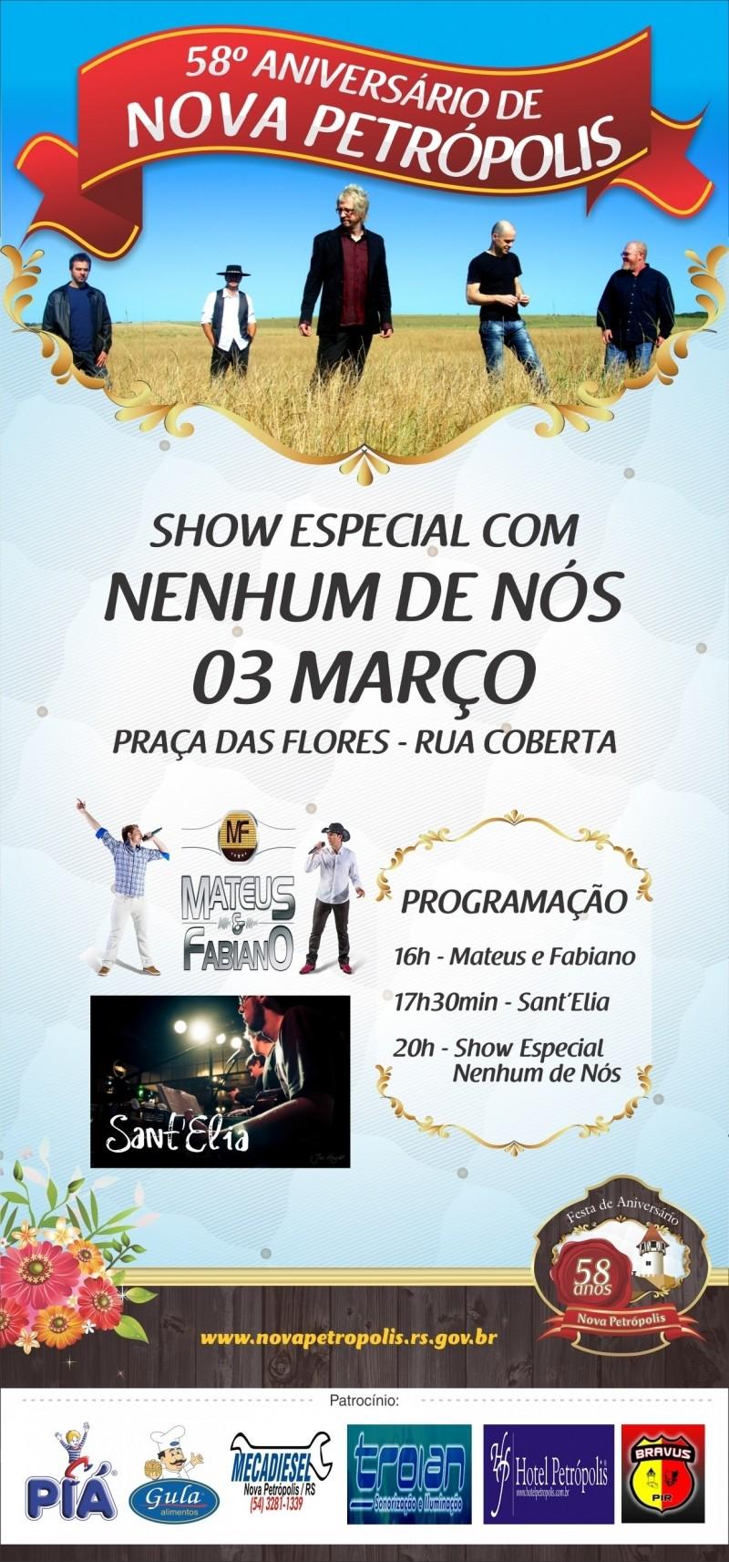 Foto de capa da notícia: Nova Petrópolis terá shows de aniversário