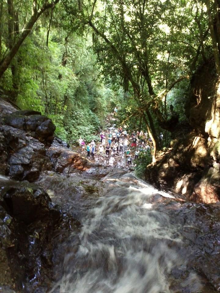 Foto de capa da notícia: Trekking da Cascata proporcionou lazer e aventura na manhã de domingo