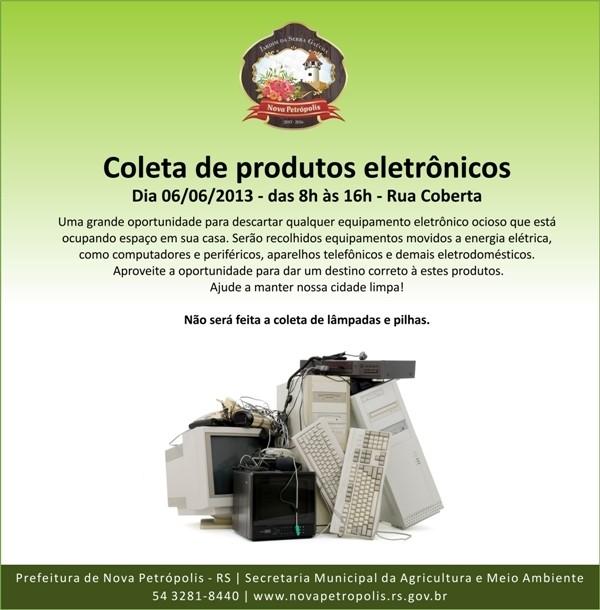 Foto de capa da notícia: Coleta de Lixo Eletrônico será feita na Rua Coberta