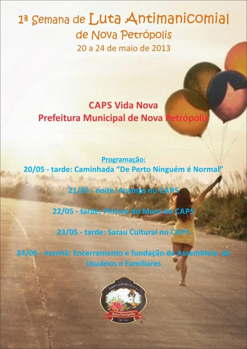 Foto de capa da notícia: CAPS realiza 1ª Semana de Luta Antimanicomial