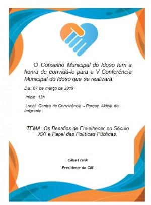 Foto de capa da notícia: Conferência Municipal do Idoso ocorre dia 7 de março em Nova Petrópolis