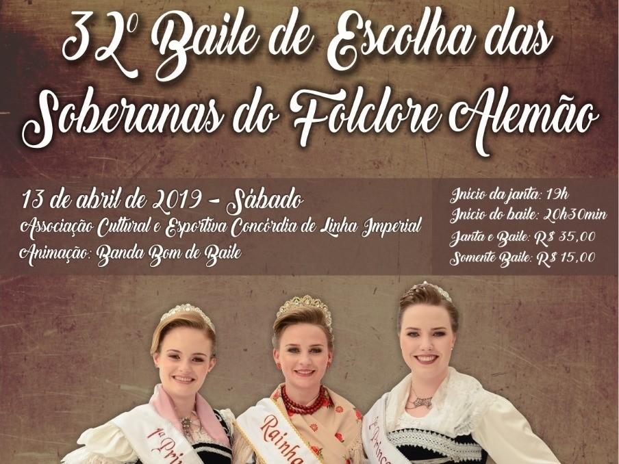 Foto de capa da notícia: Soberanas do Folclore Alemão serão eleitas dia 13 de abril em Nova Petrópolis