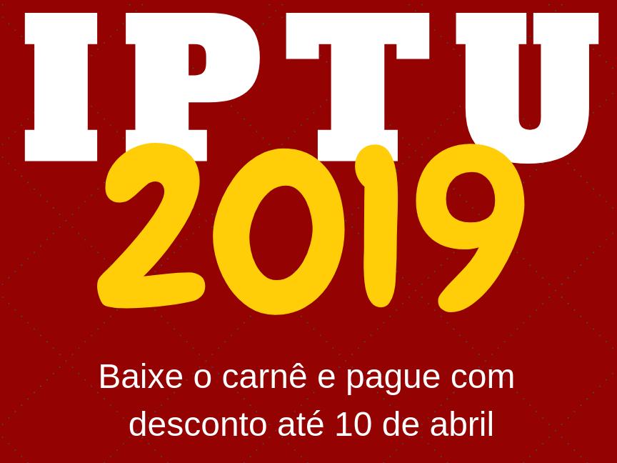 Foto de capa da notícia: IPTU em cota única com 10% de desconto até 10 de abril