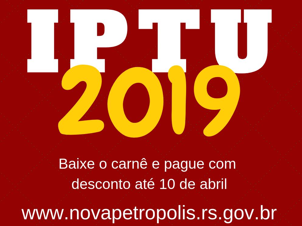 Foto de capa da notícia: IPTU com desconto deve ser quitado até 10 de abril em Nova Petrópolis