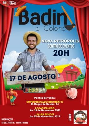 """Foto de capa da notícia: Nova Petrópolis recebe o show de humor """"Badin: o colono"""""""
