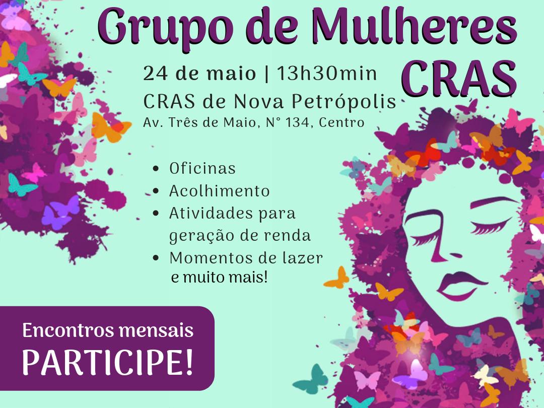 Foto de capa da notícia: CRAS de Nova Petrópolis convida para Grupo de Mulheres