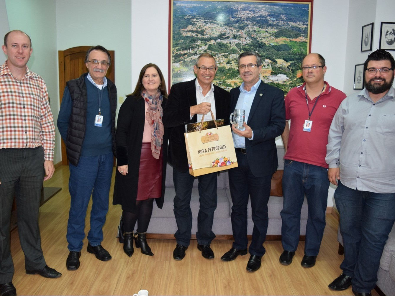 Foto de capa da notícia: Nova Petrópolis recebe presidente da Emater/RS-Ascar