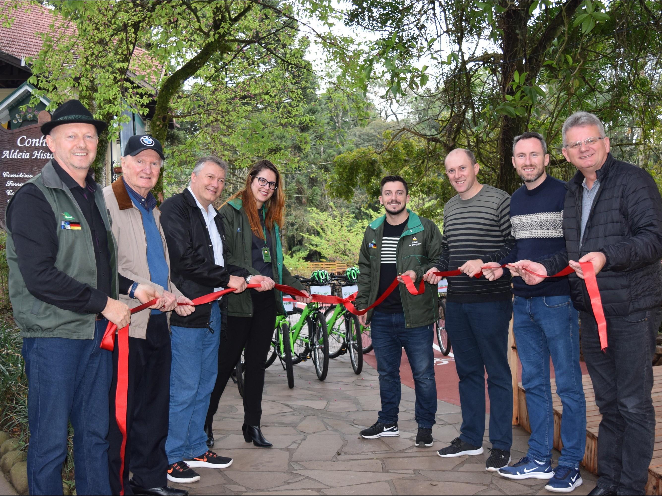 Foto de capa da notícia: Inaugurada ciclovia do Parque Aldeia do Imigrante