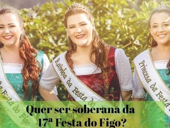 Foto de capa da notícia: Candidatas a soberanas da 47ª Festa do Figo devem se inscrever até 2 de agosto