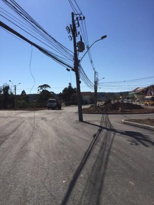 Foto de capa da notícia: Postes serão deslocados devido às obras da rótula na ERS-235
