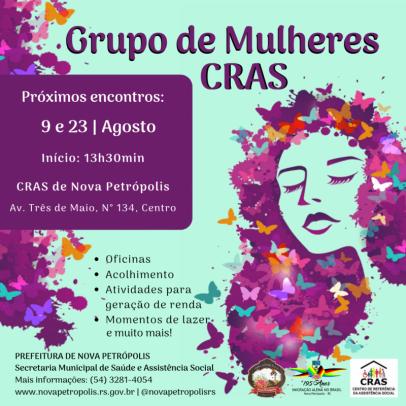 Foto de capa da notícia: Grupo de Mulheres realizado no CRAS terá dois encontros em agosto