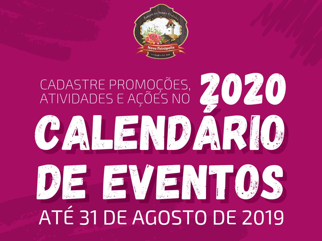 Foto de capa da notícia: Últimos dias para cadastrar eventos no Calendário Oficial de 2020