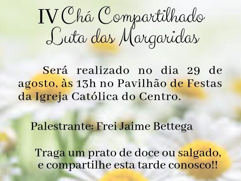 Foto de capa da notícia: Chá Compartilhado Luta das Margaridas será dia 29 de agosto