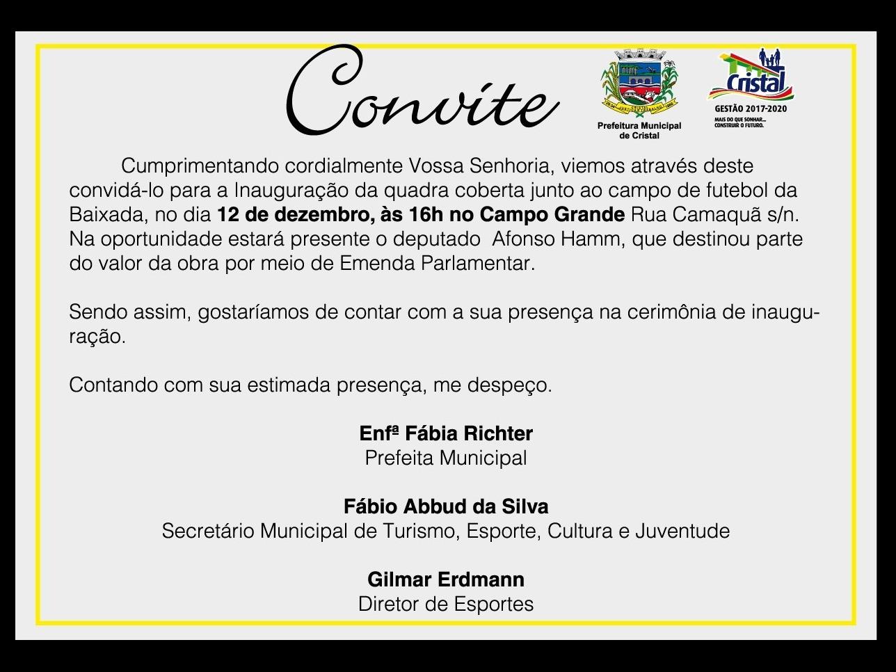 Foto de capa da notícia: Inauguração da quadra coberta junto ao campo de futebol do Campo Grande