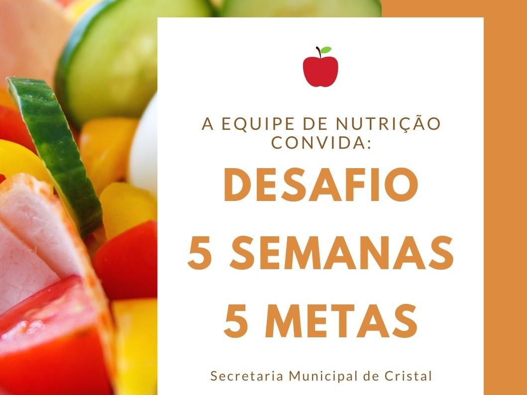 Foto de capa da notícia: Equipe de nutrição municipal convida comunidade para aderir ao movimento: Desafio