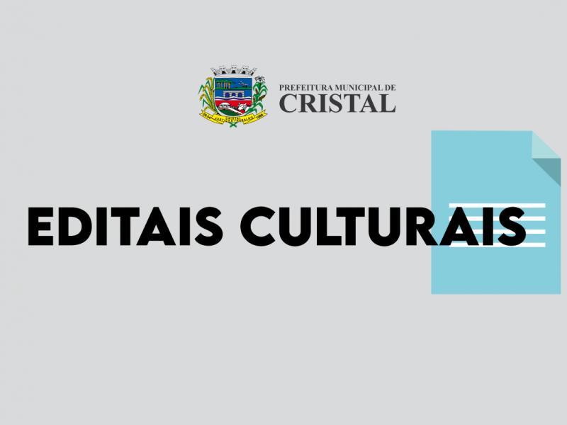 Foto de capa da notícia: Lançamento de editais de apoio à cultura Cristalense