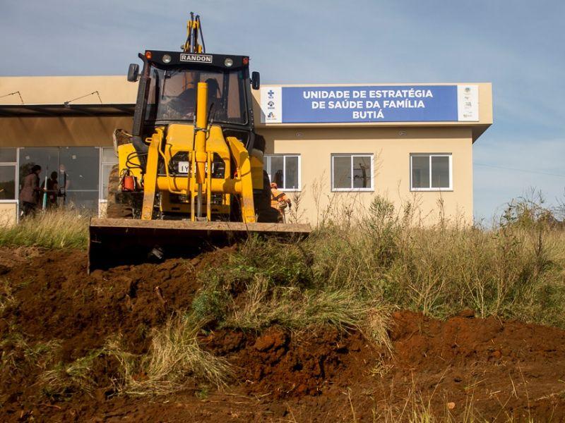 Foto de capa da notícia: Últimos preparativos para inauguração da UBS Butiá