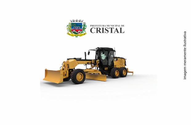 Foto de capa da notícia: Município de Cristal prepara-se para adquirir Motoniveladora