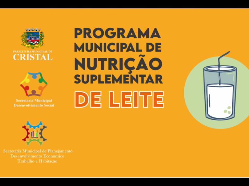 Foto de capa da notícia: Programa Municipal de Nutrição Suplementar de Leite
