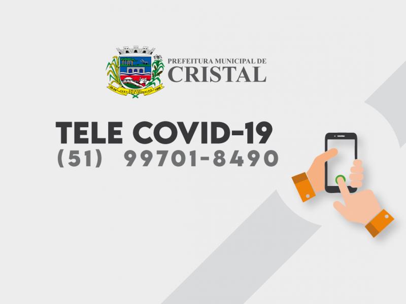 Foto de capa da notícia: Cristal conta com serviço de Tele Covid-19