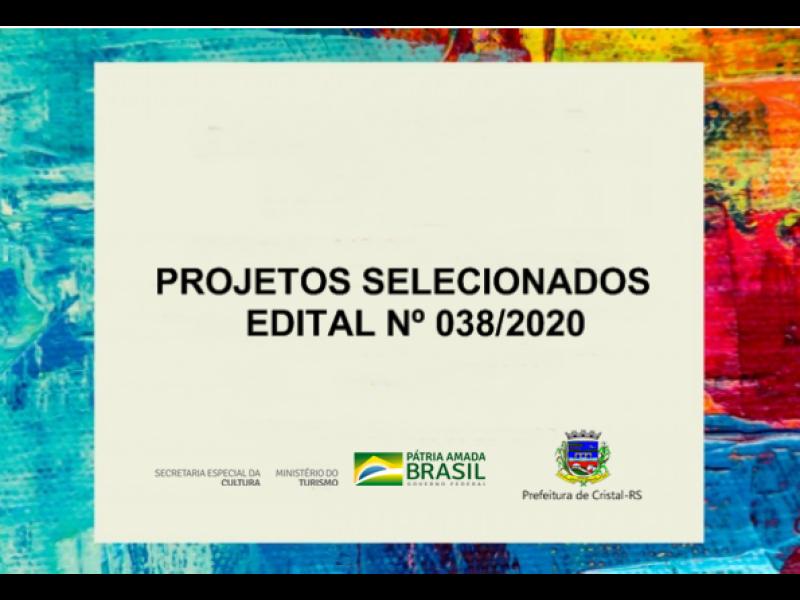 Foto de capa da notícia: Projetos selecionados pelo Edital nº 038/2020