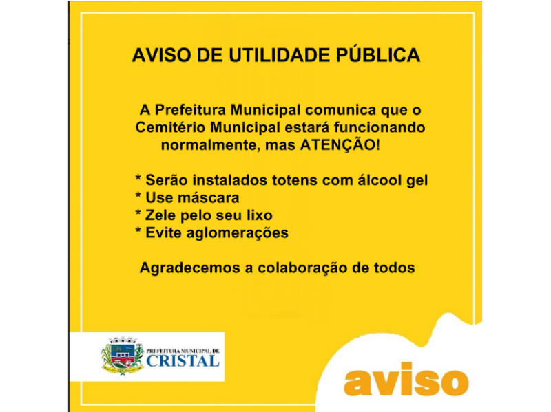 Foto de capa da notícia: Aviso de Utilidade Pública