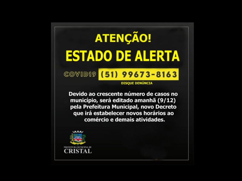 Foto de capa da notícia: ESTADO DE ALERTA !