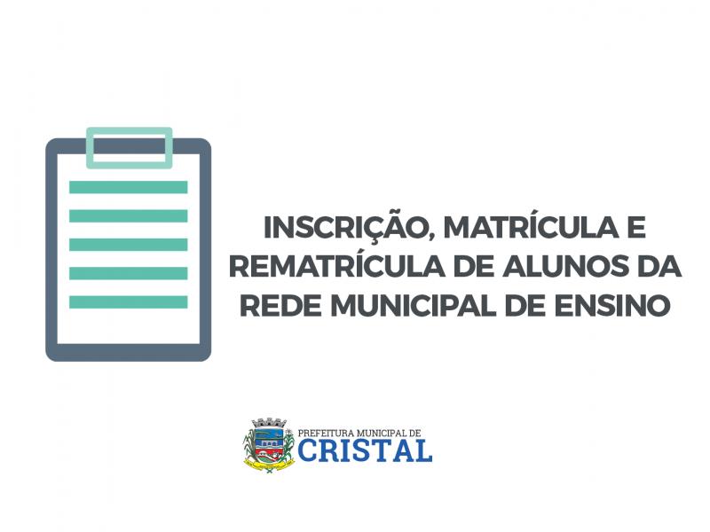 Foto de capa da notícia: Inscrição, matrícula e rematrícula de alunos da rede municipal de ensino