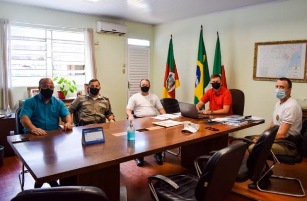 Foto de capa da notícia: Brigada Militar visita o Gabinete do Prefeito