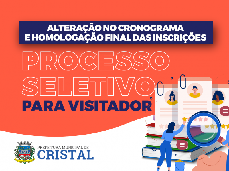 Foto de capa da notícia: Alteração no cronograma do processo seletivo para visitadores do PIM