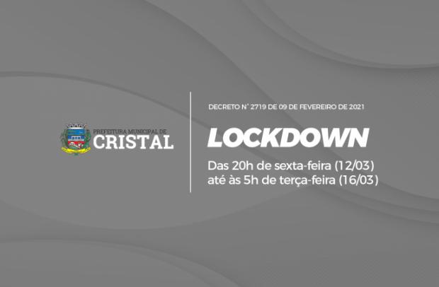 Foto de capa da notícia: Decreto determina lockdown no município de Cristal