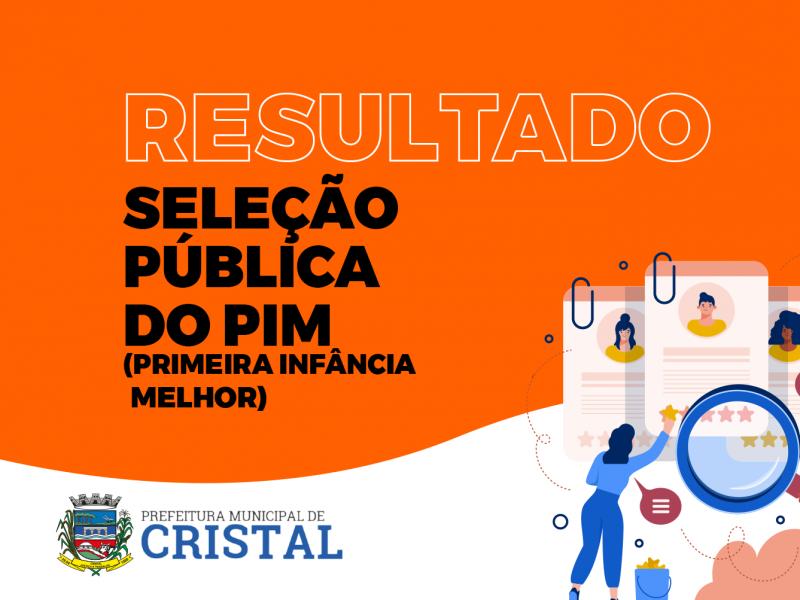 Foto de capa da notícia: Divulgação do resultado da Seleção Pública do PIM