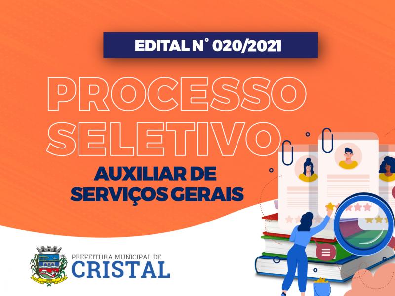 Foto de capa da notícia: Novo Edital de Processo Seletivo para Auxiliar de Serviços Gerais é publicado
