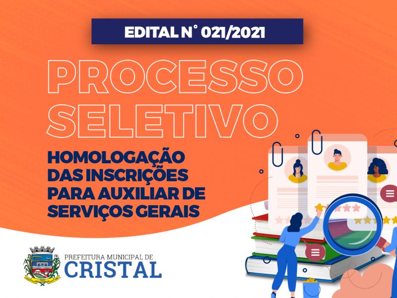 Foto de capa da notícia: Homologação das inscrições do processo seletivo para auxiliar de serviços gerais
