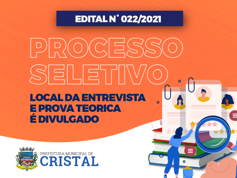 Foto de capa da notícia: Divulgado horário e local para a prova teórica e entrevista do Processo Seletivo para Auxiliar de Serviços Gerais