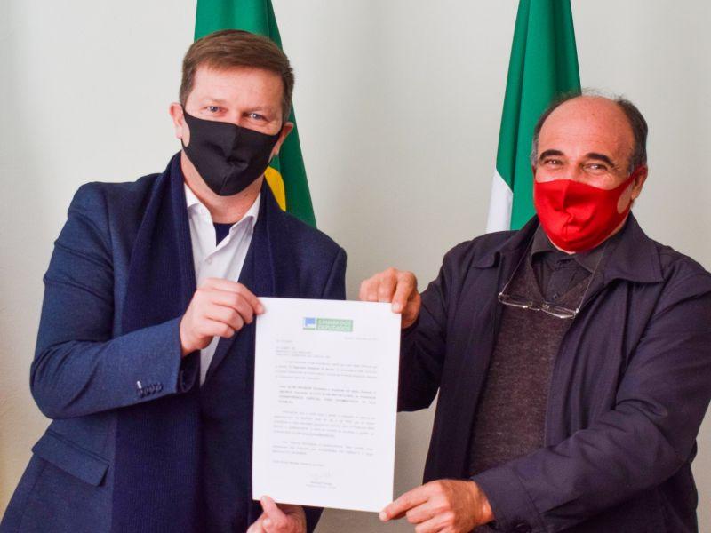 Foto de capa da notícia: Cristal recebe emenda parlamentar para pavimentação da Vila Formosa
