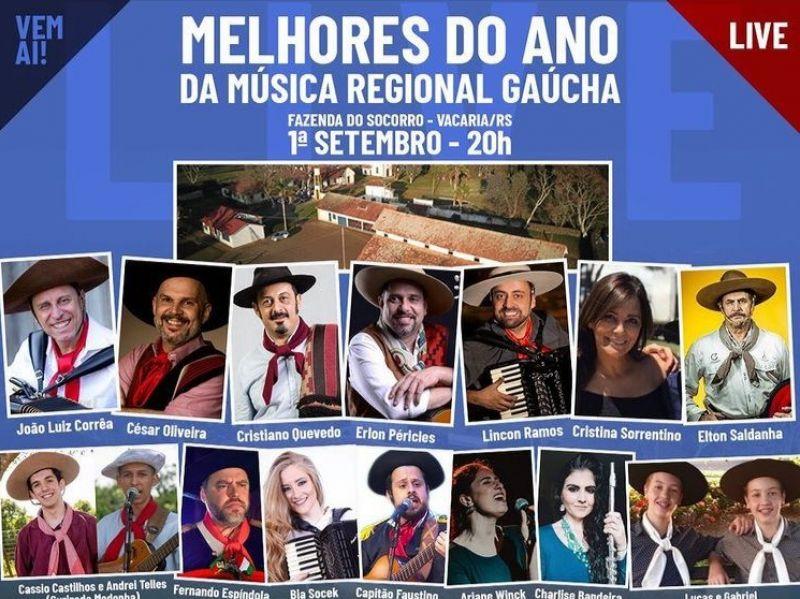 Foto de capa da notícia: Cristalense é convidada para participar da live de Premiação dos Melhores do Ano da Música Regional Gaúcha