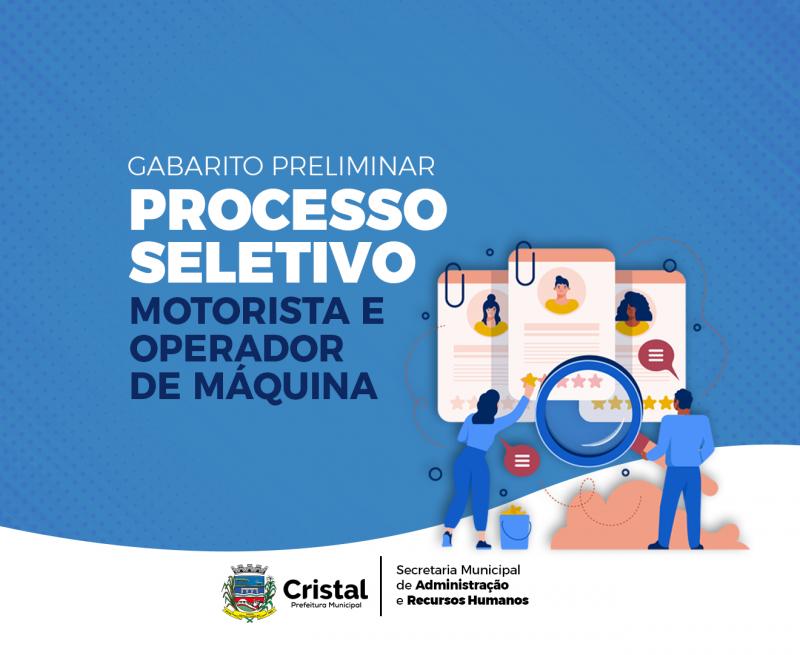 Foto de capa da notícia: Gabarito Preliminar do Processo Seletivo de Motorista e Operador de Máquina