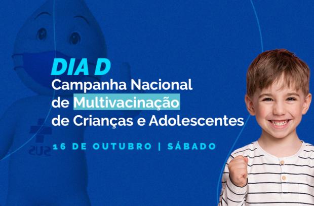 Foto de capa da notícia: Dia D da Campanha de Multivacinação para Crianças e Adolescentes acontecerá no próximo sábado (16)