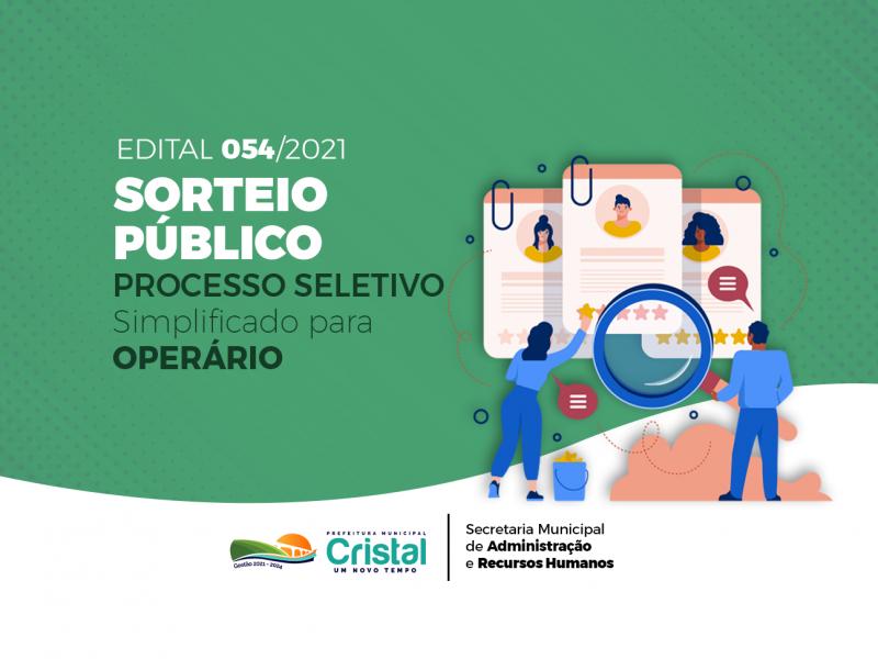 Foto de capa da notícia: Desempate por sorteio público referente ao Processo Seletivo para operário acontece amanhã