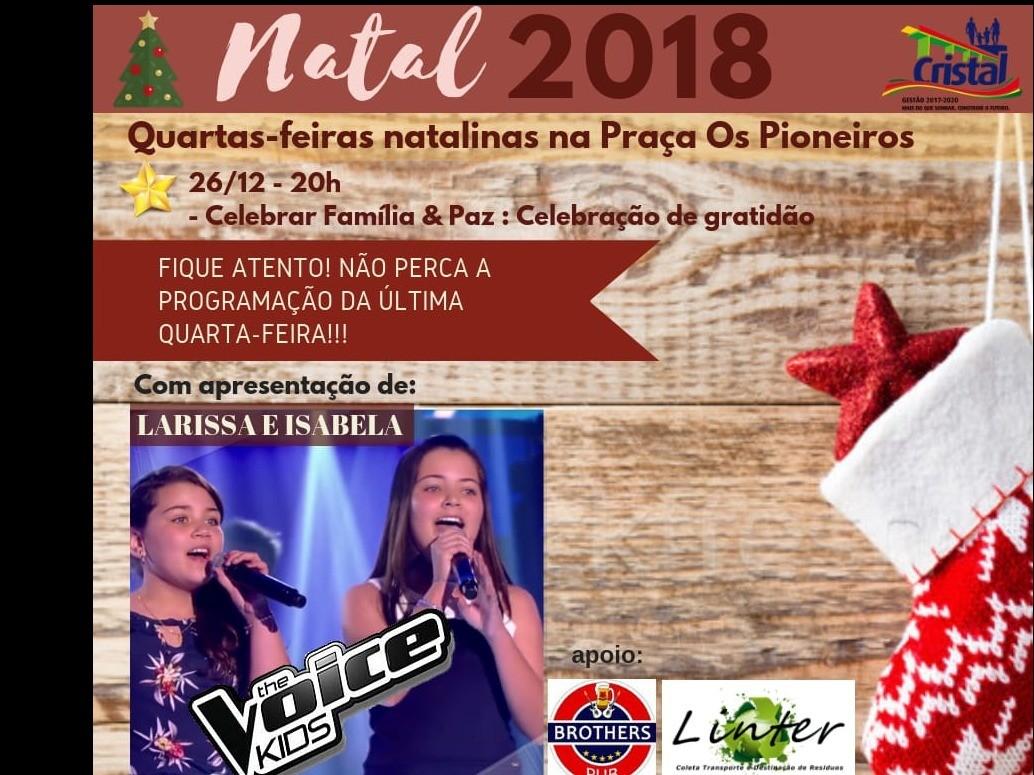 Foto de capa da notícia: 'Quarta-Feira Natalina'