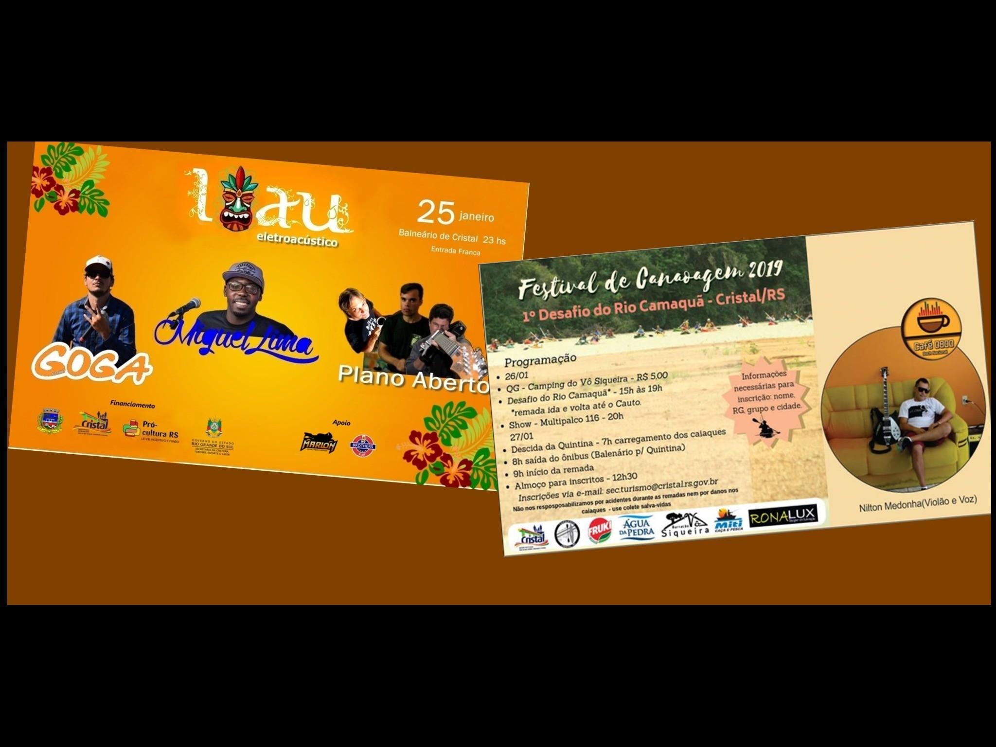 Foto de capa da notícia: Luau Eletroacústico e Festival de Canoagem