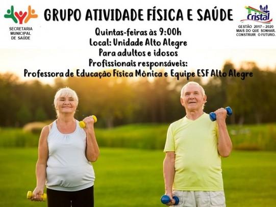 Foto de capa da notícia: Grupo Atividade Física e Saúde