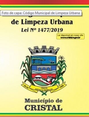 Foto de capa da notícia: Código Municipal de Limpeza Urbana