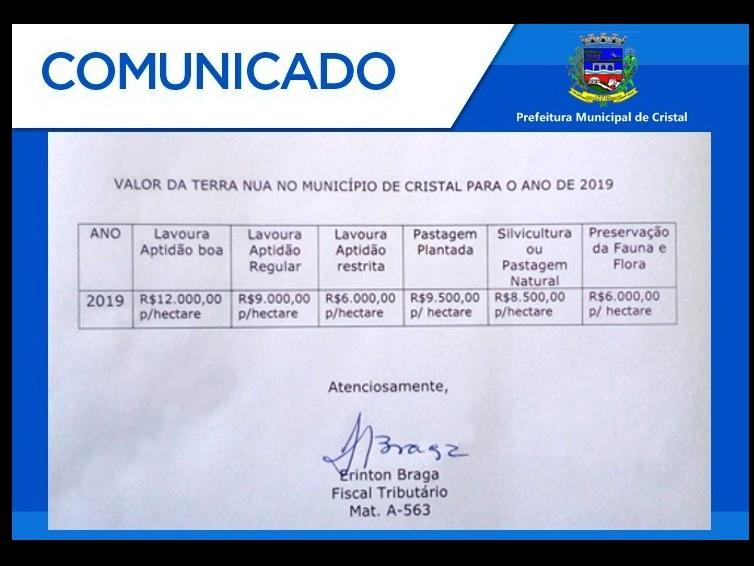Foto de capa da notícia: Comunicado