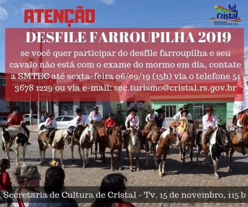 Foto de capa da notícia: Desfile Farroupilha 2019